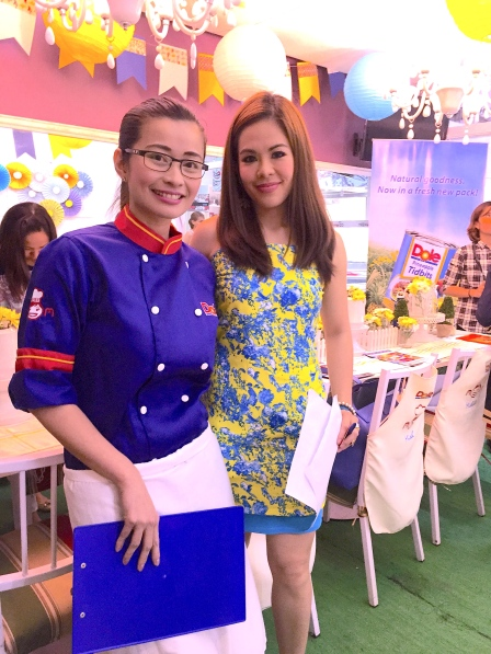 MARYLAINE VIERNES WITH CHEF ROSE BUD BENITEZ FOR DOLE