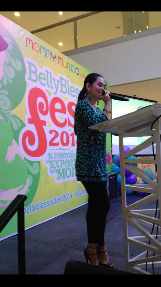 MARYLAINE VIERNES EMCESS FOR MOMMY MUNDO BELLY BLEST FEST