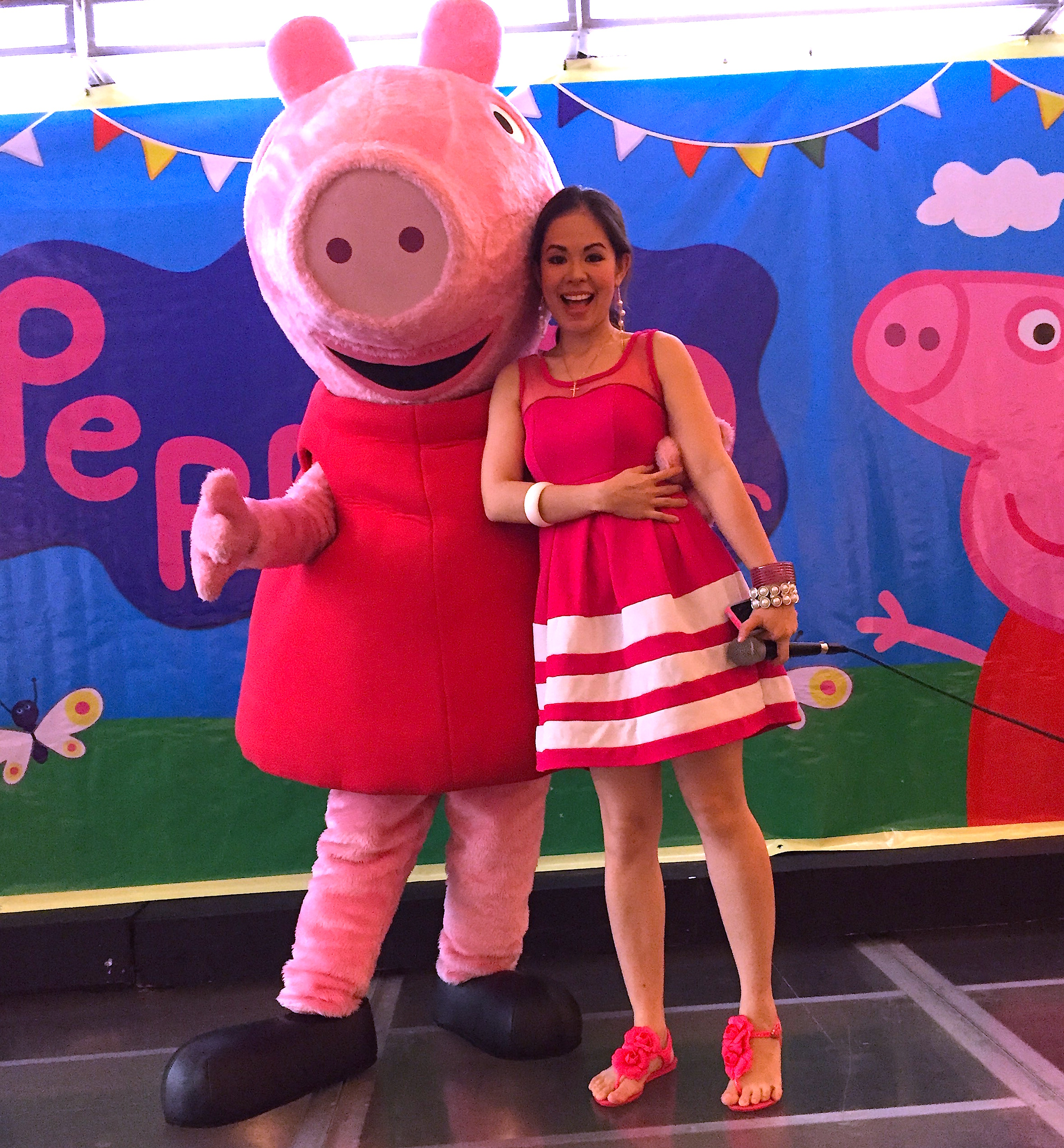 Marylaine Viernes Emcees For The Pig Tastic Second Day Of Peppa